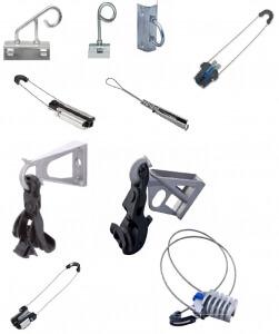 Арматура для подвеса оптического кабеля
